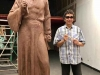 """Willy 2019年5月份完成""""利玛窦""""像的泥塑階段.In May of 2019 Willy completed the clay sculpture of Matteo Ricci."""